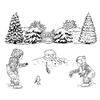 Jayne Nestorenko Winter Scene Children   per set