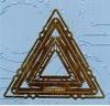 Kaderembossing mal driehoek   per stuk