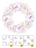 Flower Wreath 1   per set