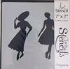 Elegant Ladies 1  17,78 x 17,78 cm.