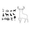 Stag Outline stamp + mask set