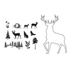 Stag Outline stamp + mask set