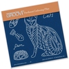 Patterned Cats Front   per stuk