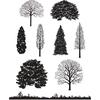 Winter Trees   per set