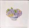 Perkament omslag 13 x 13 Hortensia   per vel