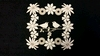 Kader Bloemen met vogels 10 x 10 cm 1,5mm dik chipboard 3 st