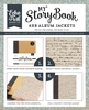 My StoryBook 6'x 8' Album Jacket Old World Travel Script   per setje
