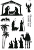 Nativity Silhouette   per set