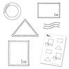 Postzegel stempels + maskers   per set
