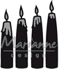Advent candles   per set