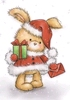 Christmas Bunny   per stuk