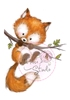 Fox on Branch   per stuk