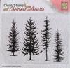 Christmas Silhouette Pine Trees   per stuk