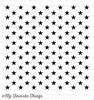 Star Background Stamp 6x6 Inch Cling Rubber   per vel