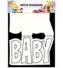 Card Art Text 'Baby'   per stuk