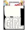 Card Art Text 'Girl'   per stuk