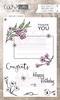 Envelope Flowers ( tekst engels)   per set