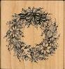 Krans met bloemen, bladeren, duif en strik    per stuk