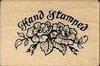 Hand Stamped met roos