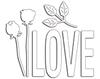 Love and Roses ( Metal Die)