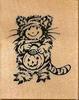 Kind in kostuum van kat voor halloween    per stuk