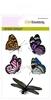 Vlinders, libelle   per set