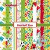 Football Star 6x6 Inch Paper Pack   per set