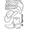 Cowboy Boots / Hat   per set