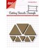 Scrap Snijstencil - Triangles   per set