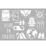 Mylar Zelfklevend Stencil : Travel A4   per stuk
