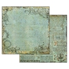 Alchemy Manuscript Turquoise Background