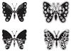 Vlinders stempelvel   per stuk