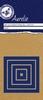 Mini Cross-Stitched Nesting Die Vierkant   per set