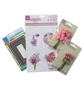 Perfumed flowers pale pink   per set