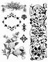 Floral Clear stempelset