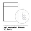 Waterfall sleeve 2 x 2 x 20   per set