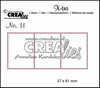 Crealies X-tra no.11 3 Postzegels