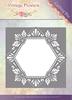 Vintage Flowers - Floral Hexagon   per stuk