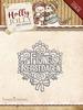 Holly Jolly Christmas - Fijne Kerstdagen   per stuk