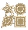 Scrap Polybesa Scrapbookstencil - Basic shapes 2   per stuk