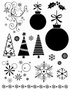 Kerst Clear stempelset   per vel