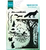 Silhouette Forest Animals   per vel