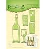 Wijnfles en glas