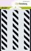 A6 MM Mix stencil design halve cirkel 9mm