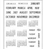 Bujo/Kalender maanden en dagen