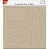Scrapbooking Stencil Tab - Borders