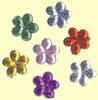 plak gems Bloemetje multicolor  35 st / Ø 6mm   per doosje