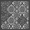 Wallpaper Rhombus and Writtings 18 x 18 cm