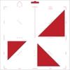 Scrap-mal driehoek   per stuk