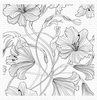 Harmonious Hibiscus Background Stamp